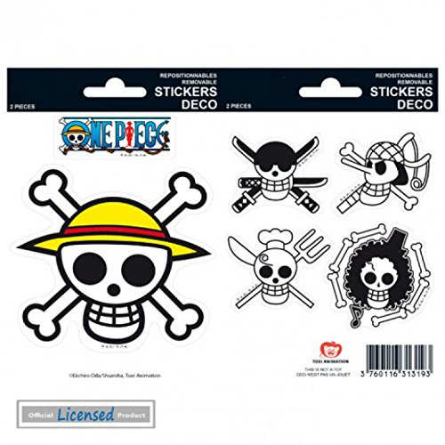 1art1 74266 One Piece – Pirates Flag Aufkleber Pack 15 x 10 cm