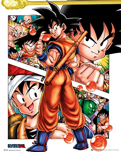 1art1 92443 Dragonball Z – Collage Mini-Poster 50 x 40 cm