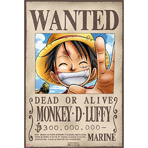 ABYstyle ABYDCO144 – Poster One Piece, Wanted Luffy