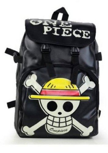 Anime One Piece Rucksack Umhängetasche Luffy Cosplay School Student / Schädel Bag New Black