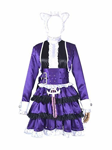 Anime Wig League of Legends Annie Cosplay Costume Dark Purple Dress L by NA