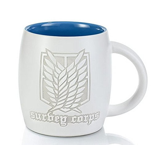 Attack on Titan Anime Cartoon Relief Keramik-Tasse Kreative personality Cartoon Relief Keramik-Tasse Kindergeburtstagsgeschenk Tasse Environmentally friendly Mode-Cup /380ml