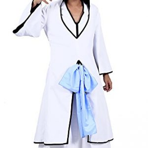 "Bleach Cosplay Costume 2nd Ver White Arrancar Outfit for ""Kitsune"" Gin Ichimaru"