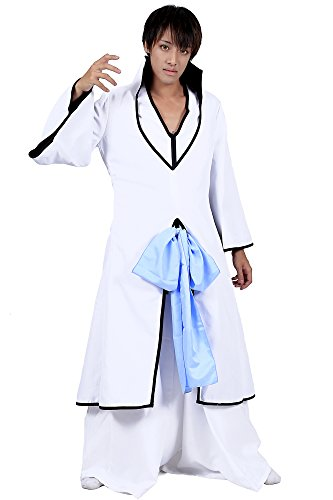 "Bleach Cosplay Cosutme ""Kitsune"" Ichimaru Gin White Arrancar Outfit 2nd Ver Set"
