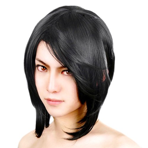 [Cosplay wig] BLEACH Kuchiki Rukia Ulquiorra Schiffer Reaper Vampire Knight pivot Pure Black Hair Short 35cm CaseEden original 4-piece set (+ stand + wig hair net two) Heat high quality genuine CaseEden (japan import)