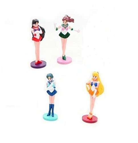 4er Set Sailor Moon Sammelpuppen Mini (ca. 6,5 cm)