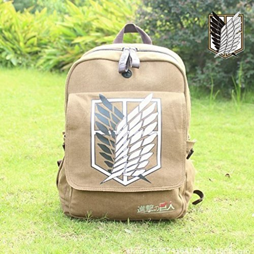 Attack on Titan Survey Corps Eren Anime Rucksack Schultasche