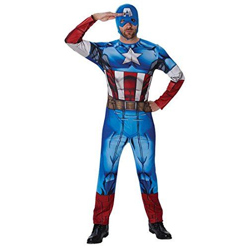 Captain America Kostüm Superhelden Herrenkostüm Comic Helden Faschingskostüm Marvel Avengers Superheldenkostüm Amerika Heldenkostüm Superheld Karnevalskostüm Herren