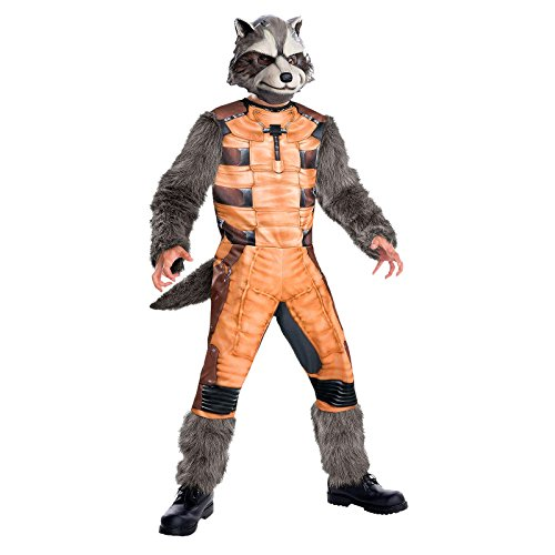 Guardians of the Galaxy Rocket Raccoon Marvel Superhelden Kinder Kostüm 2-tlg Overall Maske