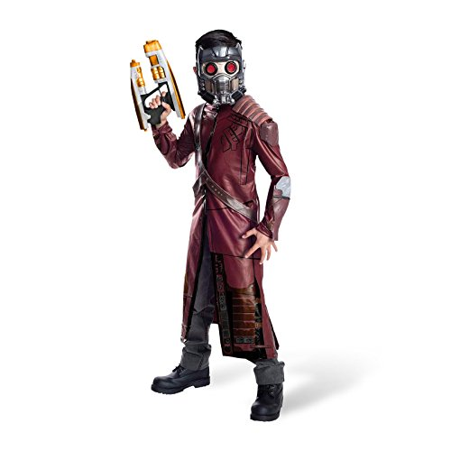 Guardians of the Galaxy Star Lord Marvel Superhelden Kinder Kostüm 3-tlg Mantel Gürtel Maske