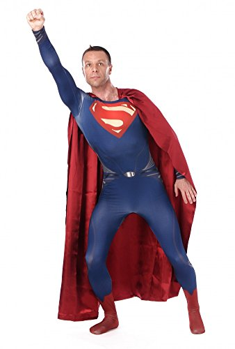 Herren-Ganzkrperanzug-Superman-2-Kostm-Superhero-Hero-Held-Comic-Superheld-0