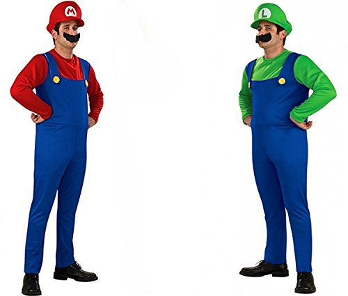 herren super kost m mario und luigi m xl cosplay24. Black Bedroom Furniture Sets. Home Design Ideas