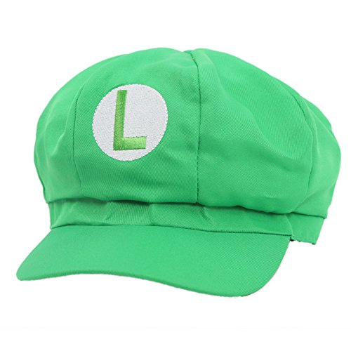Mario-Luigi-Hte-Hut-Rot-Grn-Elastische-Kappe-Hat-Cosplay-Kostm-Fashion-Design-fr-Halloween-Party-0