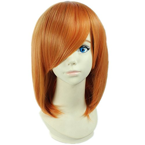 Tqglobal Cosplay Wig Death Note Mero kurz Orange Anime Haar