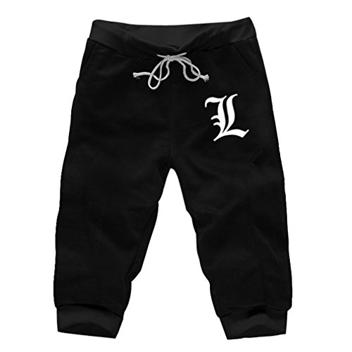 Bromeo Death Note Anime Herren Shorts Cropped Trouser Pants Hose