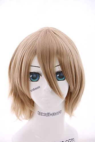W-10-22 Blond blonde kurz Haar 33cm Death Note Light Yagami Anime COSPLAY Perücke WIG