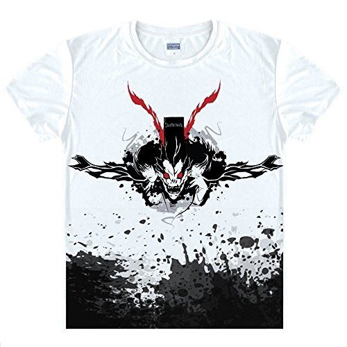 Death Note T-Shirt Anime Kostüm Cosplay Weiß 4 Version