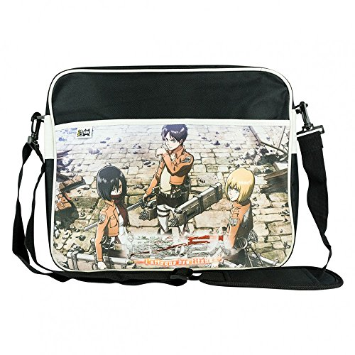 Attack on Titan Unisex Team Messanger Bag Original 100% Polyester Schwarz Manga Anime