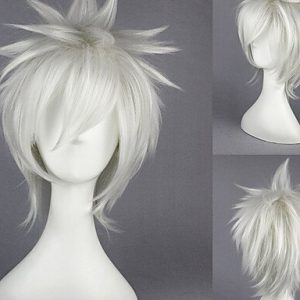 Mode Perücken WIGSTYLE 13inch death note-nate river white anime Cosplay Perücke
