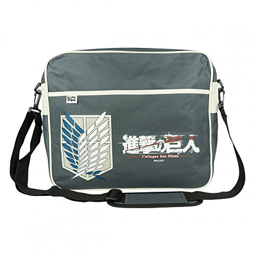 Attack on Titan Unisex Scout Messanger Bag Original 100% Polyester Schwarz Manga Anime