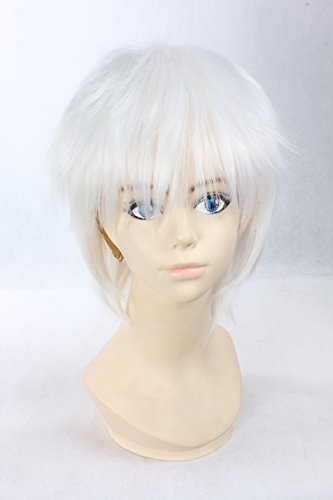 Gin Tama Death Note Weiß Kurze Perücke Cartoon Cosplay Perücke