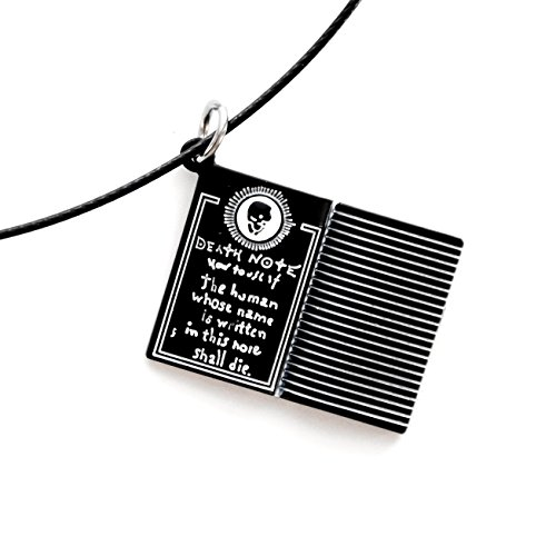 Papapanda Halskette für Death Note Kette Notizbuch des Todes von Light Yagami Manga Anime Notebook Necklace